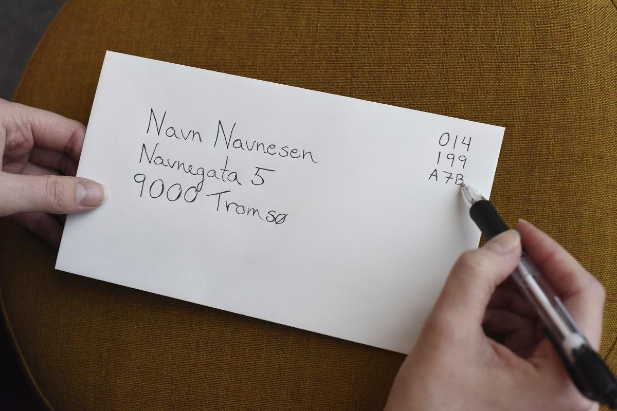 Digitalt frimerke på brev
