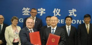 Fiskeriminister Per Sandberg til Kina