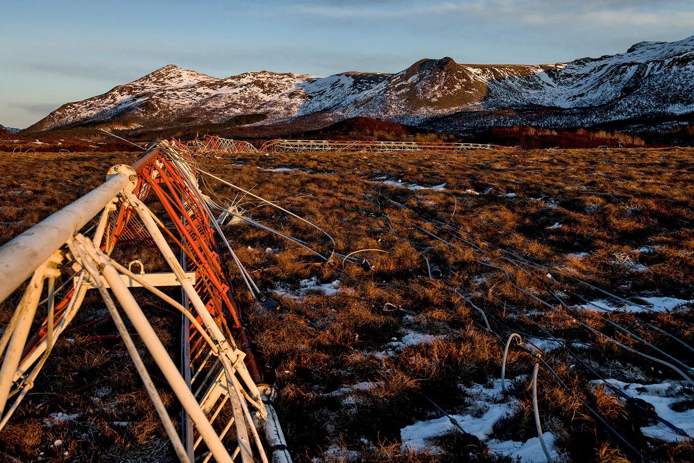 Spregning av Loran-c mast Bø, Vesterålen - AF Gruppen