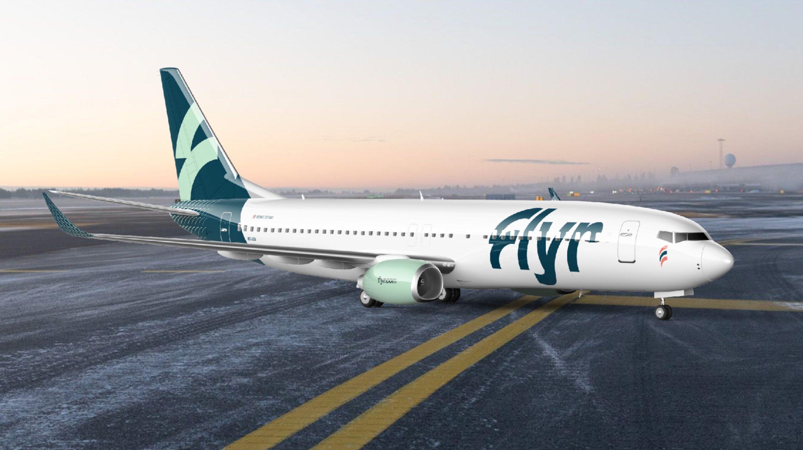Flyr har valgt flytypen Boeing 737-800. Her med designen til det nye norske flyselskapet