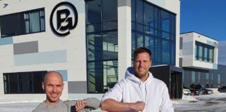 Kommersiell direktør i Klarna Norge, Geir Østby (til venstre) og gründer og eier av Brandsdal Group, Einar Øgrey Brandsdal